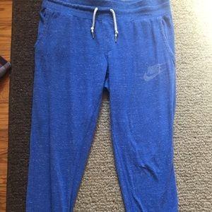 Blue Nike track pants